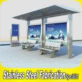 よい価格の現代屋外の通りのステンレス鋼のバス待合所