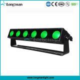 6ПК 25W Rgbaw 5в1 пиксель лампа LED баров для растений