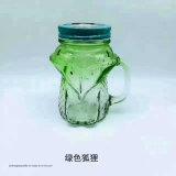 Buntes Maurer-Cup mit Stroh-Glas-Cup