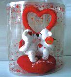 Duidelijke ronde doos voor huwelijks brithday gift (plastic verpakkingsdoos)