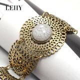 Il braccialetto caldo del Rhinestone dell'Anti-Oro dei monili del braccialetto del pezzo fuso di modo progetta le donne