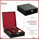I contenitori di regalo di cuoio di vetro di vino del Faux comerciano (5643R1)