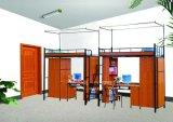 책상을%s 가진 학교 가구, 학교 아파트 학생 기숙사 2단 침대 및 내각