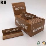 더 부유한 우수한 Unbleched 브라운 대마 담배 흡연 종이