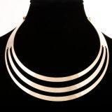 Halsband van de Nauwsluitende halsketting van de Kleur van de Manier van de Charme van de Halsband van de Verklaring van vrouwen de Gouden