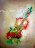 La chitarra Handmade imposta la pittura a olio su tela di canapa per la decorazione domestica