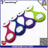 Yxl-945 Attractive New Nurses Doctor Fob Watch Broches Silicone Tunic Batteries Medical Nurse Watch