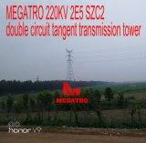 Megatro 220kv 2e5 Szc2 두 배 회로 측면 전송 탑