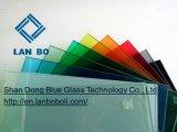 실내 장식 외벽 Windows를 위한 10.38mm 대양 파랑 PVB 박판으로 만들어진 유리