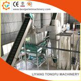 Les déchets de bois de la paille de riz production de pellets Husk prix de ligne de la machine