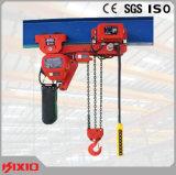 1 Tonne Niedrig-Durchfahrtshöhe elektrische Kettenhebevorrichtung-Materialtransport-anhebende Maschine