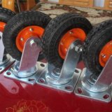 Hochleistungsgummi PU-Schaumgummi-feste Rad Swival Fußrolle
