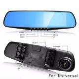 Lente dupla de 4,3 polegadas Dash Cam DVR carro câmara HD montados no veículo Universal Gravador de condução do Espelho Retrovisor