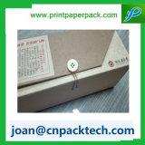 Rígido hecho a mano de papel grueso con el rectángulo del botón