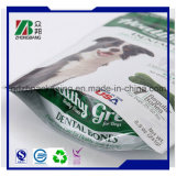 Em Pé de alta qualidade OEM 3 camadas laminadas metalizados saco de alimentos para animais de estimação