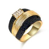 Gouden Juwelen 2 van de Manier van de douane Ring van de Vrouwen van de Ring van de Toon de Zwarte en Gouden