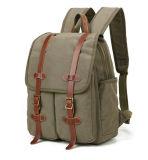 Человека холстины армии перемещение напольных спортов зеленого высококачественное укладывая рюкзак ретро рюкзак мешка школы мешка плеча двойника отдыха