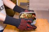 Перчатка-BBQ оптовых перчаток печи силикона Coated теплостойкmNs варя вспомогательное оборудование камина