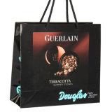 Quatre sacs lustrés de cadeau de papier d'emballage d'impression de couleur avec le traitement