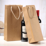 Sacco di carta impaccante personalizzato commercio all'ingrosso del Kraft della fabbrica per la bottiglia