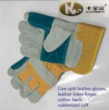 Перчатки работы Split кожи коровы с кожаный указательным пальцем