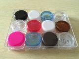 O cosmético transparente plástico range o frasco de creme desobstruído vazio plástico de 3G 5g 10g 15g 20g 25g