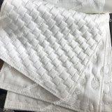 Telas de enfriamiento hechas punto poliester blanco del colchón