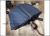 Guarda-chuva de dobramento do guarda-chuva aberto automático da cor da marinha