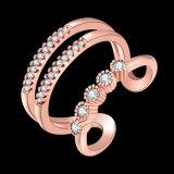De geometrische Juwelen van de Manier van de Ring van het Zirkoon van de Vorm Open voor Partij