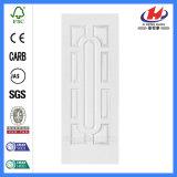 Piel blanca de madera de la puerta de la pintura de fondo del interior MDF/HDF (JHK-012)