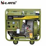 Jeu diesel de groupe électrogène avec les traitements et les roues (DG6000E)