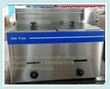 contre- premier 10L toute la friteuse de gaz d'acier inoxydable (WGF-72)