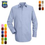 Tissu de coton Ripstop personnalisée de couleur rouge chemise de travail