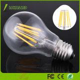Ampola retro equivalente Incandescent do diodo emissor de luz do bulbo 60W Dimmable do filamento do diodo emissor de luz de E27 6W 8W