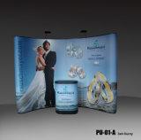 Магнитная ПВХ всплывающее выставочный стенд алюминиевых рекламу на фоне дисплей