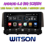 """Witson 9 """" Grote Androïde 6.0 Auto van het Scherm DVD voor Honda Civic (1.5T HOOG) 2016"""