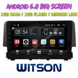 "Witson 9"" на большой экран Android 6.0 DVD для гражданского Honda (1,5 Тл) 2016"