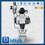 Type de Didtek Wcb V robinet à tournant sphérique avec pneumatique