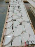 Kultivierter Marmorzubehör-Ecken-Montierungs-Seifen-Teller für Hotel-Badezimmer