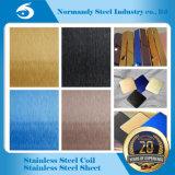410 El Color de espejo pulido grabado Placa de acero inoxidable para ascensor