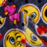 Cobertor bonito impresso poliéster 100% do bebê do velo coral de Emoji