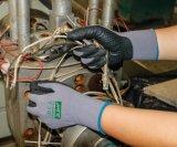 Gants de travail de la sécurité Oil-Proof Anti-Abrasion avec Dotting nitrile