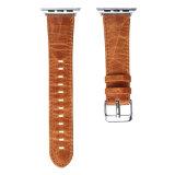 Faixa de relógio louca do couro genuíno do cavalo para a cinta de relógio 38mm e 42mm de Apple