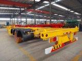鋼鉄材料およびトラックのトレーラーの使用40FTの骨組容器のトレーラー