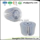 ISO9001를 가진 알루미늄 밀어남 해바라기 LED 열 싱크