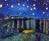 Воспроизведение Ван Гог Звездная ночь картины маслом на холсте для стен