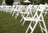 新製品の結婚式のためのプラスチック屋外の庭のホーム折りたたみ椅子