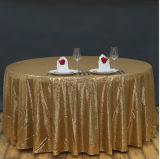 Tablecloth do Sequin que Wedding o pano de tabela bonito do Sequin de Champagne
