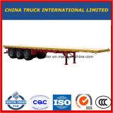 reboque Semi de serviço público pesado Flatbed do caminhão do trator do eixo 40feet 3