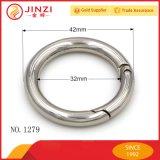 Alti anelli neri della molla del metallo di Qualtiy per il hardware della cinghia del sacchetto